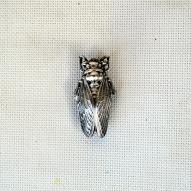Art-Deco-Cicada-Brooch, Silver-Cicada-Brooch,