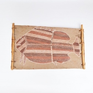 Aboriginal-bark-painting, Mick-Kubarkku,