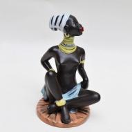 Cortendorf-pottery, cortendorf-figurine, black-lady,
