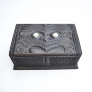 Maori-Carved-Lidded-Box
