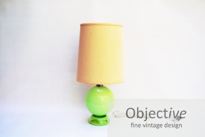Scandinavian-Cased-Glass, 70's-Table-Lamp,