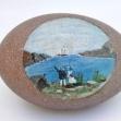farewell-gift Australian-colonial-art, Folk-art, Australian-Colonial, Painted-Emu-Egg,