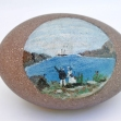 farewell-gift Australian-colonial-art, Folk-art, Australian-Colonial, Painted-Emu-Egg,