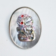 New-Zealand-Silver-Brooch, Tiki-Brooch,