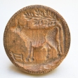 Folk Art Carved Butter Press
