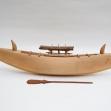 Nauru-model-canoe, Micronesian-art, Pacific-canoes, Nauruan-canoe, PNG-Art, first-arts, artificial-curiosities,