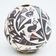 Acoma-Pueblo-American-indian-pottery, Seed-pot-P.-Iule.