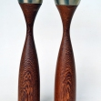 Mid-Century-teak-Candle-Sticks, teak-Candle-Sticks, danish-teak,